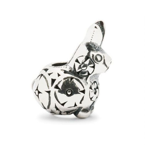 Trollbeads Decorative Baby Rabbit  Sterling Silver Bead TAGBE-30036